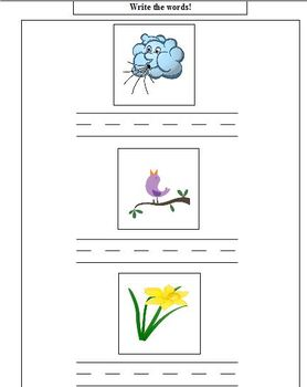 March Matching and Vocabulary, Autism, ABA
