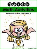 March Math Activities: Common Core Aligned