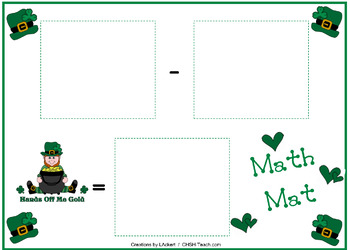 March Math Center Materials - Shamrock Counters and Mats