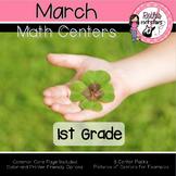 March Centers - 1st Grade - Math