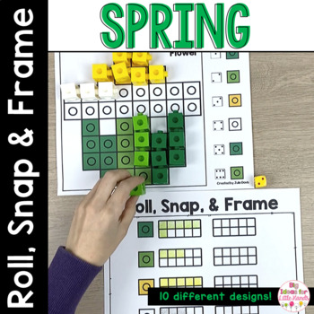 March Math Center   Spring Activities Snap Cubes