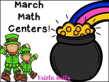March Math Centers {10 independent math centers}