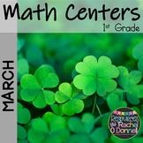 March Math Centers First Grade
