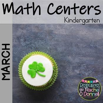 March Math Centers KG