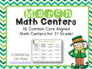 March Math Centers Menu {CCS Aligned} Grade 1