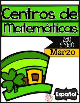 March Math Centers SPANISH 2nd grade - Centros de matematicas en ESPANOL