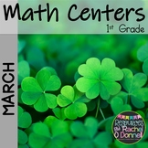 March Math Centers St Patrick's Day 1st Grade