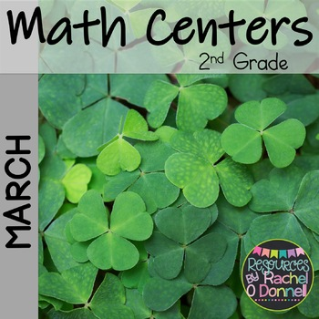 March Math Centers St Patrick's Day 2nd Grade