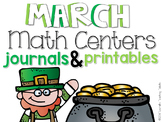 March Math Centers and Printables First Grade