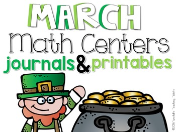 March Math Centers and Printables