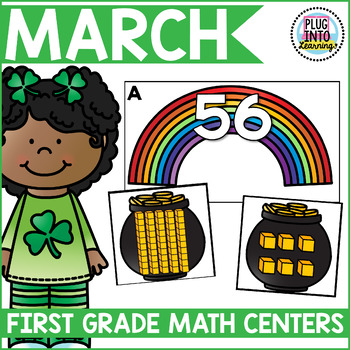 March Math Centers for 1st Grade