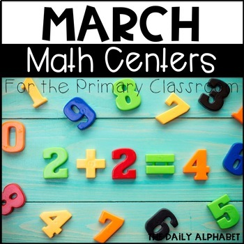 Kindergarten Math Centers for March