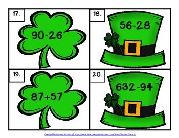 March Math Centers for St. Patrick's Day