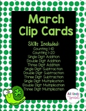 March Math Clip Cards