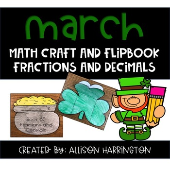 March Math Craft and Flip Book: Area and Perimeter