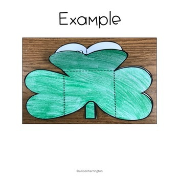 March Math Craft and Flip Book: Fractions and Decimals