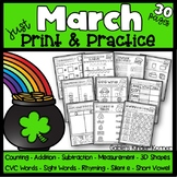 March Math & ELA Print and Practice!