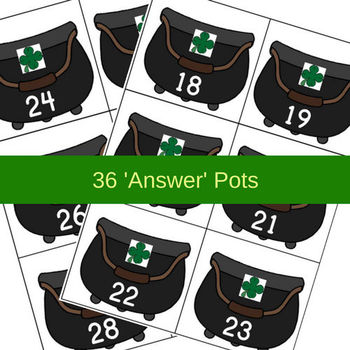 March Math File Folder Game - Hands Off Me Gold / St. Patrick's Day (Edition 2)