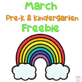 March Math Freebies Pre-K and Kindgeraten