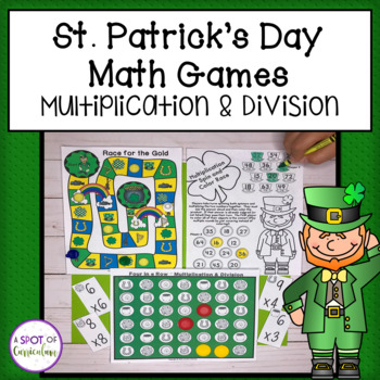 St. Patrick's Day Math Games: Multiplication and Division