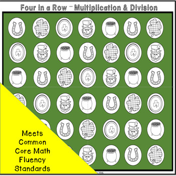 St. Patrick's Day Multiplication and Division Games