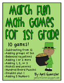 March Math Games for 1st Grade - St. Patrick's Day & March