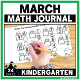 Kindergarten Math Journal for March