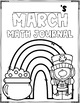 March Math Journal (1st Grade)