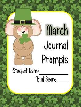 March Math Journal Prompts - 1st Grade. Common Core