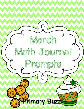March Math Journal Prompts {First Grade}