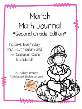 March Math Journal Second Grade