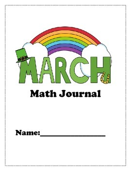 March Math Journal for K and 1st