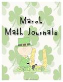 March Math Journals: 15 Days of Fun Math Activities