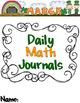 March Math Journals