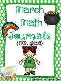 March Math Journals {First Grade}