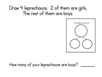 March Math Journals with Number Bonds: Kindergarten