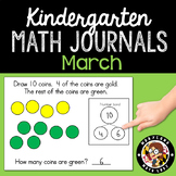 March Math Journals with Number Bonds: Kindergarten