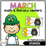 March Math & Literacy Centers in Spanish