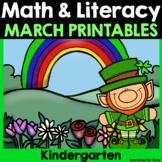 March Math & Literacy {Kindergarten}