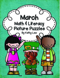 March Math & Literacy Picture Puzzles