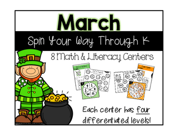 March Math & Literacy Spinners