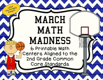 March Math Madness: 6 Common Core Aligned Centers for Second Grade