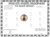 March Math Madness- Sweet 16, Elite 8, Final 4, and The Big Dance