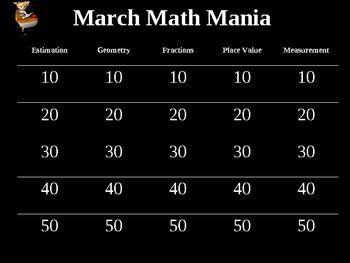 March Math Mania