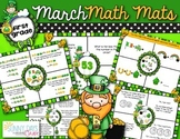 March Math Mats {first grade}
