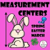 March Math Measurement Center BUNDLE, Easter, Spring, St. Patrick's Day
