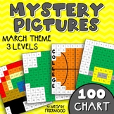 March Math Mystery Pictures {100 Chart} *DIFFERENTIATED* St. Patrick's Day