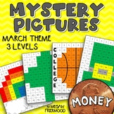 March Math Mystery Pictures {MONEY} *DIFFERENTIATED* St. Patrick's Day