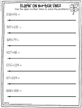 March Math No Prep Printables [2nd Grade]