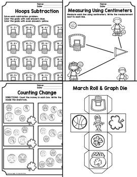 March Math Printables - 2nd Grade